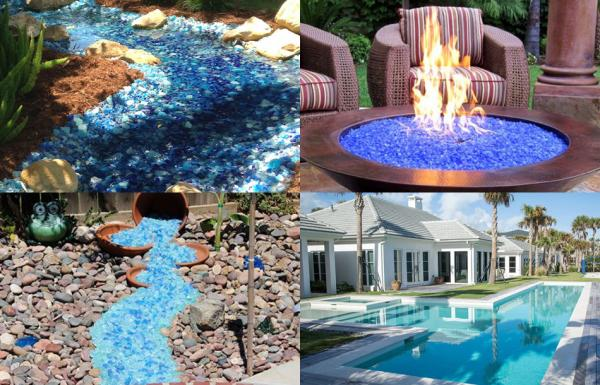 Colored Reflective Fire Glass